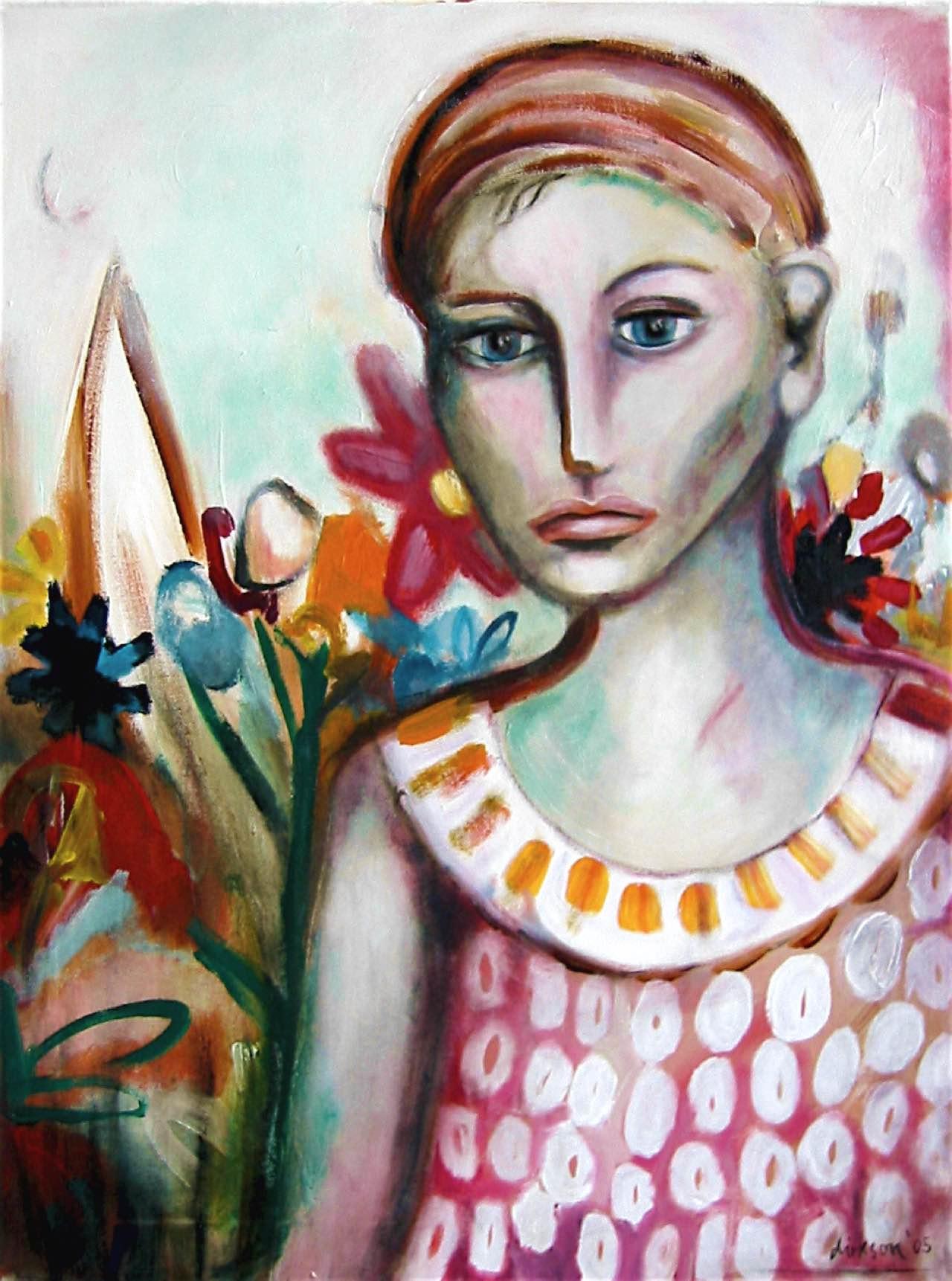 Blumenmädchen, 60×80