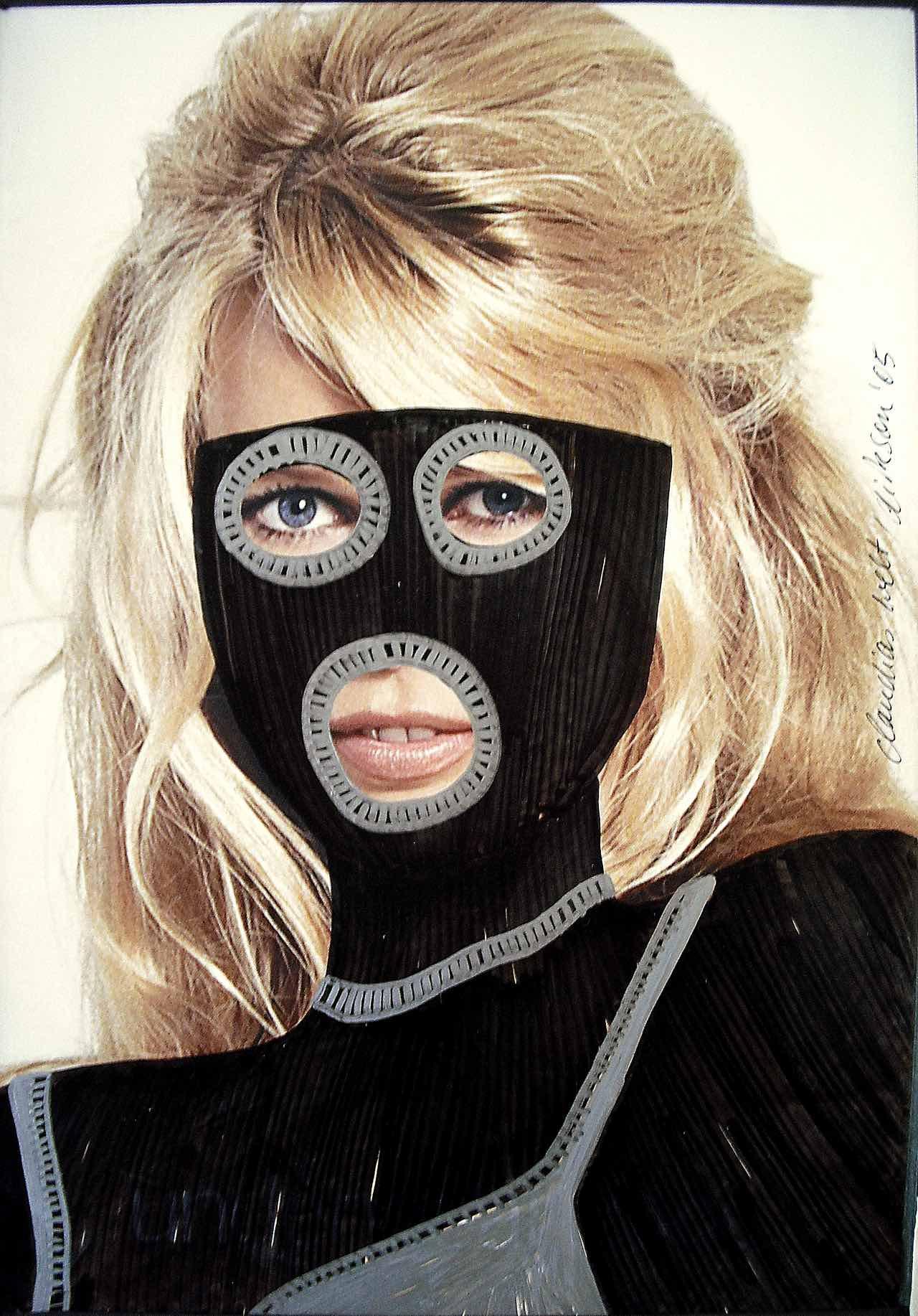 Claudia Schiffer mit Sexmaske