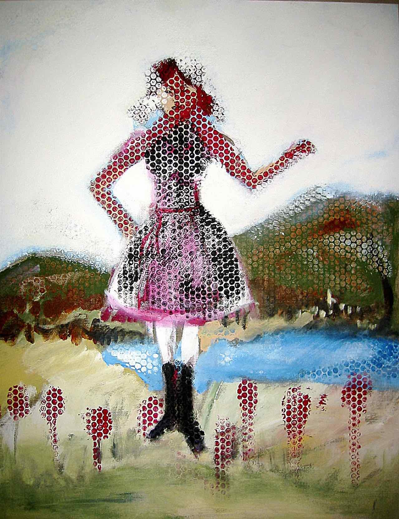 Mädchen am See, 80×100