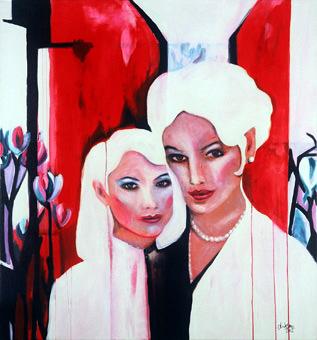 Mutter, Tochter, 140×150