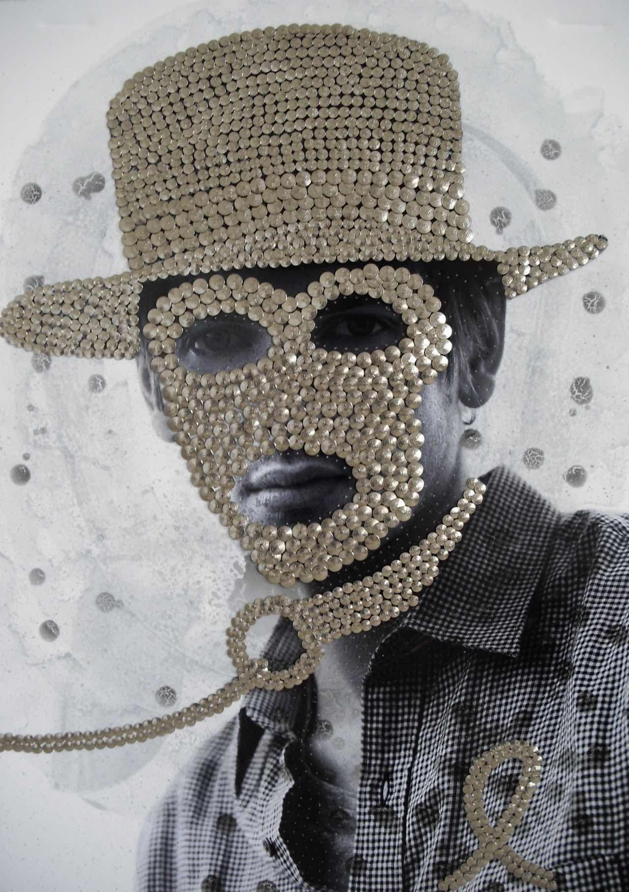 Mann mit Hut und Maske, Fetsich, Sklave