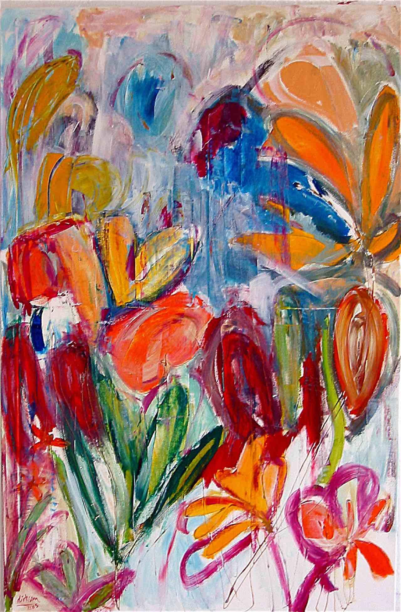 Expressives Blumenmotiv
